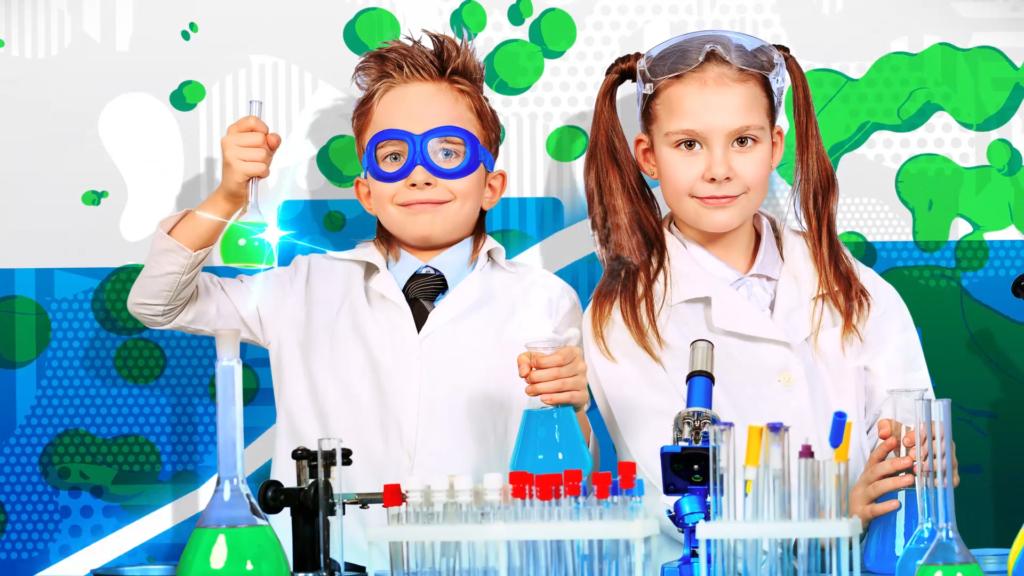 Addo Experimake chłopiec i dziewczynka naukowcy